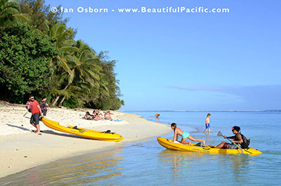 the backpackers beach on rarotonga west coast