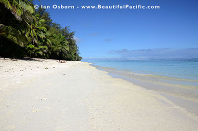 kayaking at the backpackers beach on rarotonga